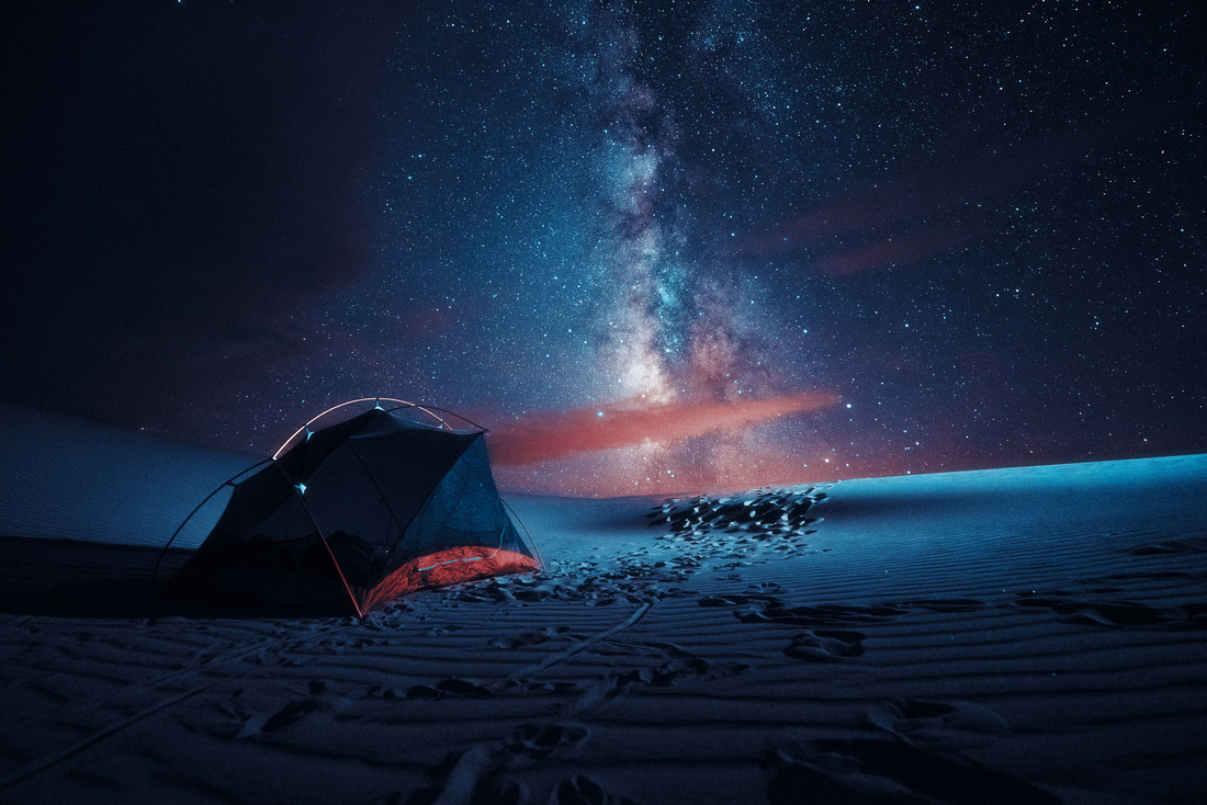Tent in the Sand Dunes