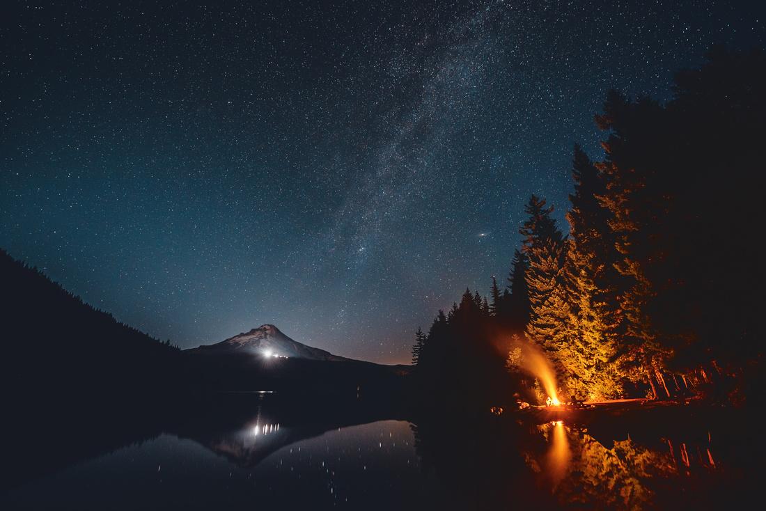 Trillium Lake - Midnight