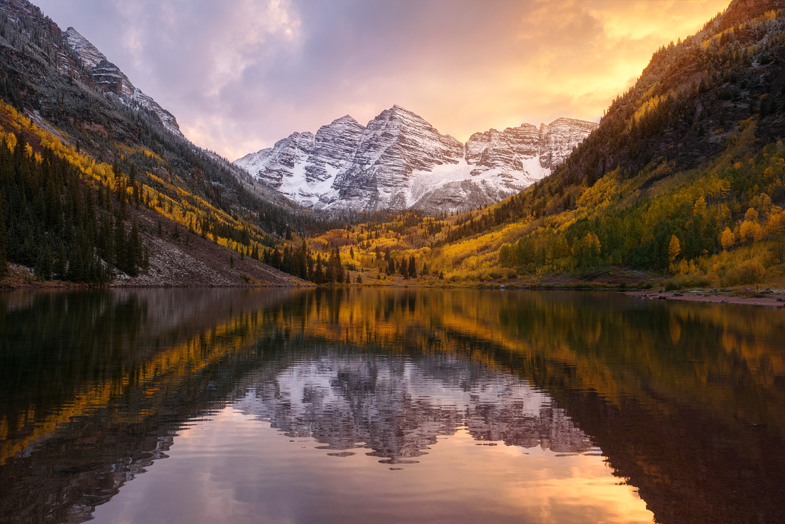 Maroon Bells Sunset