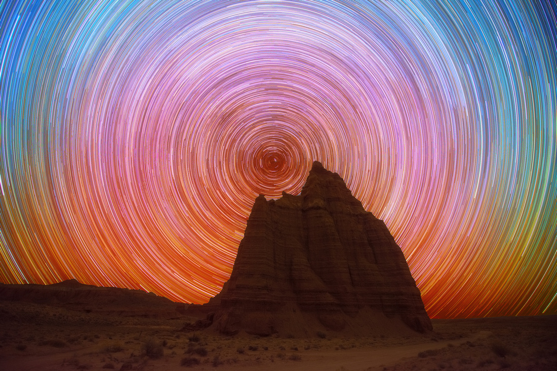 Temple of the Moon - Star Trails